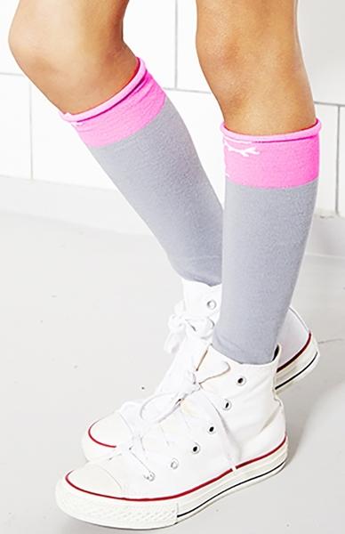 B2-kousen Bianca, grey-pink