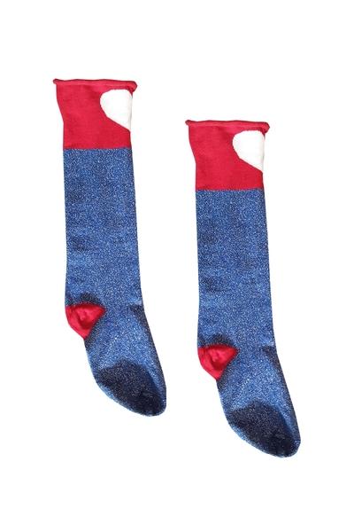 A1-sokken harts cobalt/red