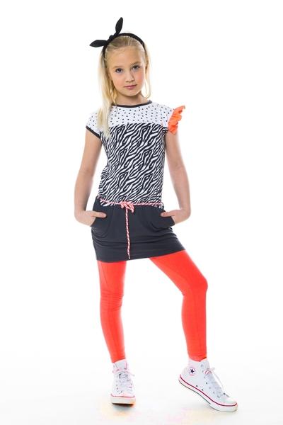 Dress Leonie AOP Zebra