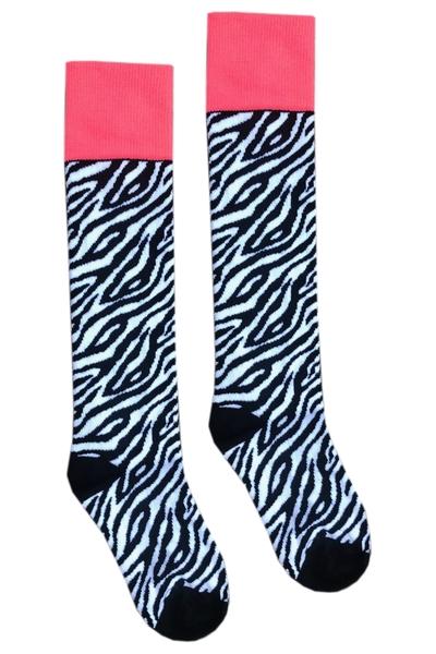 Sokken Rosa AOP Zebra