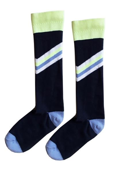 A- Socks darkblue/lime