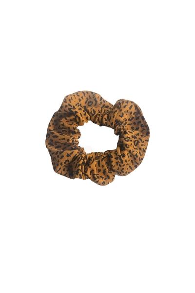 G-Scrunchie AOP Leopard brown