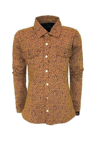B-Blouse Lola AOP leopard brown