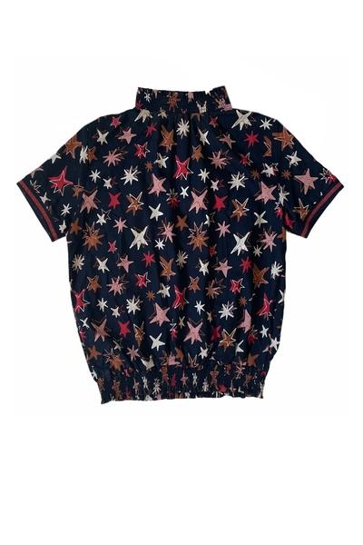 Y2-blouse Allison aop star