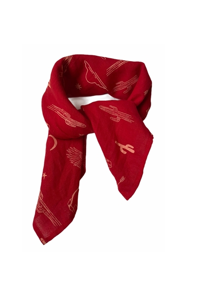 Z- Scarf Puck red aop
